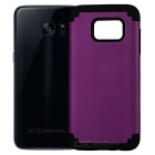 TPU + Silicone Case for Samsung Galaxy S7 Edge - Purple + Black