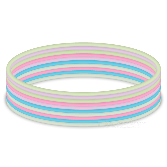 Multipurpose pulseira pulseira de borracha hairband - multi-color (10PCS)
