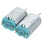 3~6V M20 High Speed Motor for DIY Model Airplanes - Silver (2PCS)