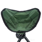 Outdoor Foldable Three-legged Stool for Fishing - Green + Black