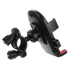 Plastic Bike Handlebar Mount Holder for Phone / GPS - Black + Red