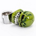 Skull Style Car Steering Wheel Spinner Knob Handle - Green