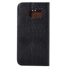 Crocodile Grain Protective PU Case for Samsung Galaxy S7 G9300 - Black