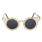 Unisex Cat's Eyes Style UV400 Protection Sunglasses - Golden + Grey