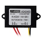 LY-KREE AC 24V to DC 24V 3A 72W Step-down Converter - Black