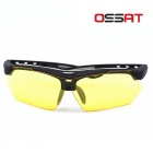 OSSAT 99150 UV400 Protection Sports Sunglasses - Black + Yellow