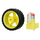 L Shape TT Single Axle Gear Motor Set for DIY - Black + Yellow