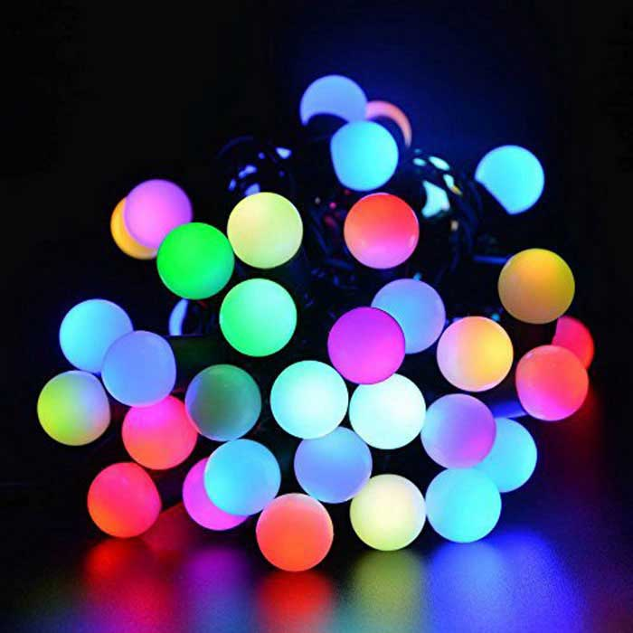50-LED 16ft RGB Endre Color Fairy Globe String Lights w / Controller