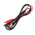 50ohm Coaxial Cable BNC to Dual Alligator Clips Test Lead for Oscilloscope - Black + Red (108cm)