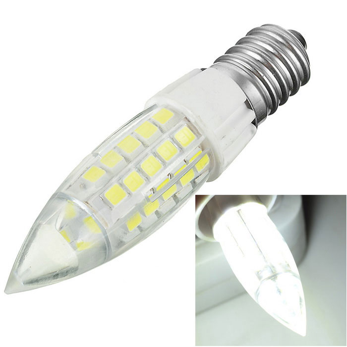 Marsing E14 4W LED Cold White Light Corn Bulb - White + Yellow
