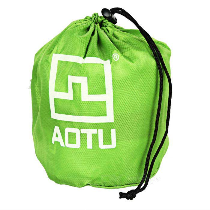 aotu at6222 outdoor practical air inflatable camping pillow green