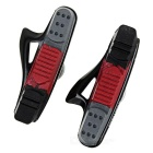 MZYRH 470TC Road Bike Rubber Brake Pads Shoes - Black + Red (Pair)