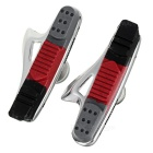 MZYRH 470TC Road Bike Rubber Brake Pads Shoes - Silver + Red (Pair)