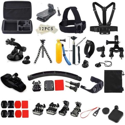 55-in-1 Outdoor Sports Accessories Kit for GoPro Hero - Black + Yellow