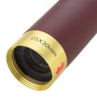 Outdoor Mini Retro 25X 30mm Telescope Monocular - Gold + Champagne