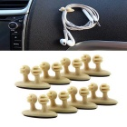 ZIQIAO Adhesive Car Charger / USB Cable Clamps Organizer - Beige(8PCS)