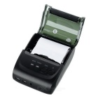 Portable 58mm Thermo-sensitive Bluetooth Receipt Printer - Black
