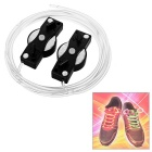 Magic 7-Color Changing LED Light Shoelaces - Black (Pair)