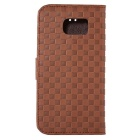 Protective PU + TPU Full Body Case for Samsung Galaxy S7 - Coffee
