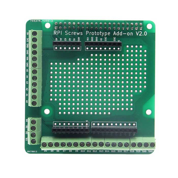 Prototype Board Expansion Board for Raspberry Pi 3B/2B/B Plus - Green