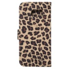 Leopard Pattern PU Case for Samsung Galaxy S7 G9300 - Yellow + Black