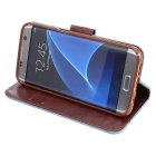 Wallet Case w/ Stand & Card Slots for Samsung S7 G9300 - Light Blue