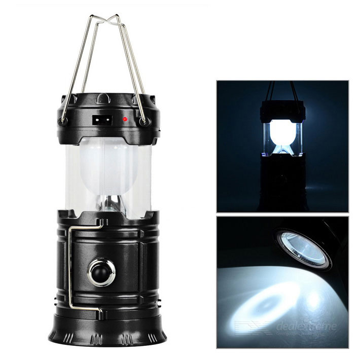 CTSmart 7-LED White Solar Rechargeable Camping Lantern / FlashlightOutdoor Lantern<br>Form  ColorBlack + White + Multi-ColoredQuantity1 DX.PCM.Model.AttributeModel.UnitMaterialABSEmitter BINLEDNumber of Emitters7Color BINWhiteBattery TypeSolar,Others,AC 100~220VBattery NumberAC 100~220VBattery included or notNoNumber of Modes2Actual Lumens- DX.PCM.Model.AttributeModel.UnitLantern TypeOthers,Camp lanternBest UseFamily &amp; car camping,Backpacking,Camping,Mountaineering,Travel,FishingCertificationCEPacking List1 x Camp lantern1 x US plug charging cable (50+/-2cm)<br>
