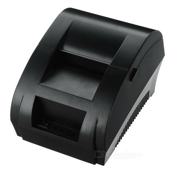 Portable 58mm USB Thermal Receipt Printer - Black