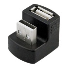 180 Degree USB 2.0 Male to Female Connector Adapter  - Black
