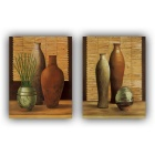 Decorative Still Life Painting Print Canvas Set - Orange (2PCS)