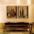 Koriste Still Life Maalaus Tulosta Canvas Set - Orange (2PCS)