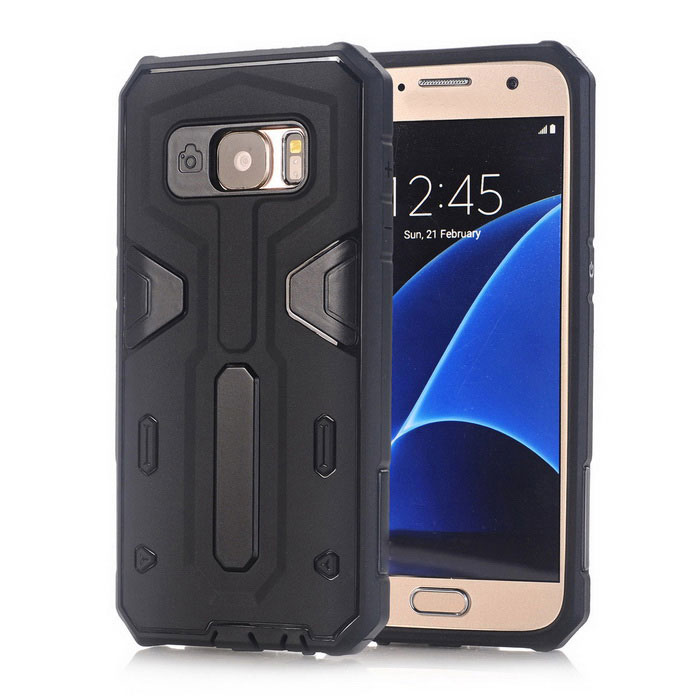 Ultra Armor Dual Layer TPU Back Case for Samsung Galaxy S7 - Black(SKU 428573)