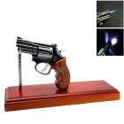 Revolver Style Multifunctional Butane Gas Lighter - Mahogany + Black