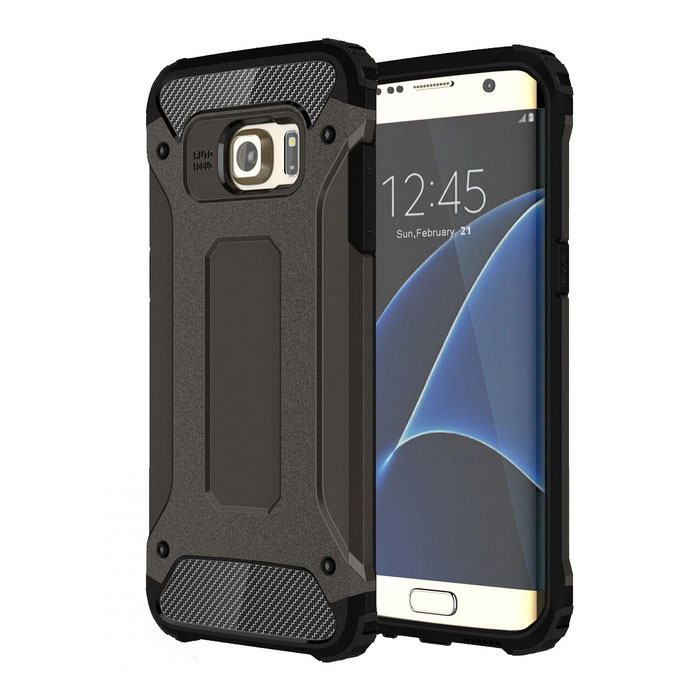 Protective Back Case for Samsung Galaxy S7 Edge - Black
