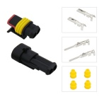Qook JHRH40001 2Pin /Way Waterproof Electrical Wire Connector Plug Set