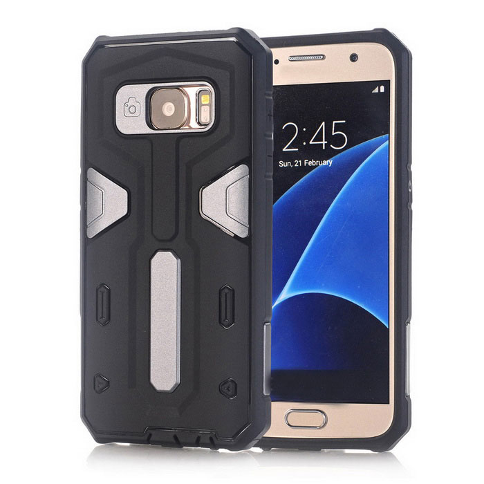 TPU + PC Back Case for Samsung Galaxy S7 - Black + GreyTPU Cases<br>Form ColorGrey + BlackQuantity1 DX.PCM.Model.AttributeModel.UnitMaterialOthers,TPU + PCShade Of ColorGrayCompatible ModelsSamsung Galaxy S7DesignMixed Color,With Anti Dust PlugStyleBack CasesPacking List1 x Back case<br>