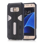 TPU + PC Back Case for Samsung Galaxy S7 - Black + Grey
