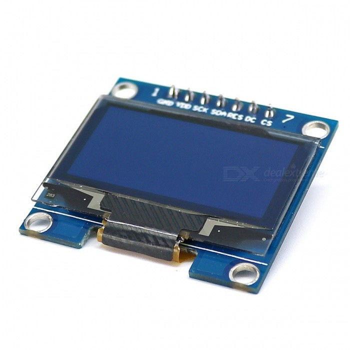 Sh oled display module for arduino blue black