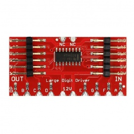 TPIC6C596 8-Digit Large Digit Driver for Arduino - Red