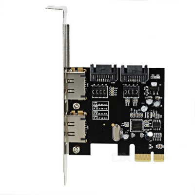 PCI-E to SATA 3.0 Converter Adapter - Black + Silver