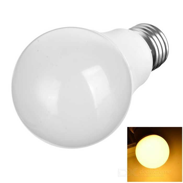 E27 7W LED Warm White Light Globe Bulb - белый (170 ~ 265V)