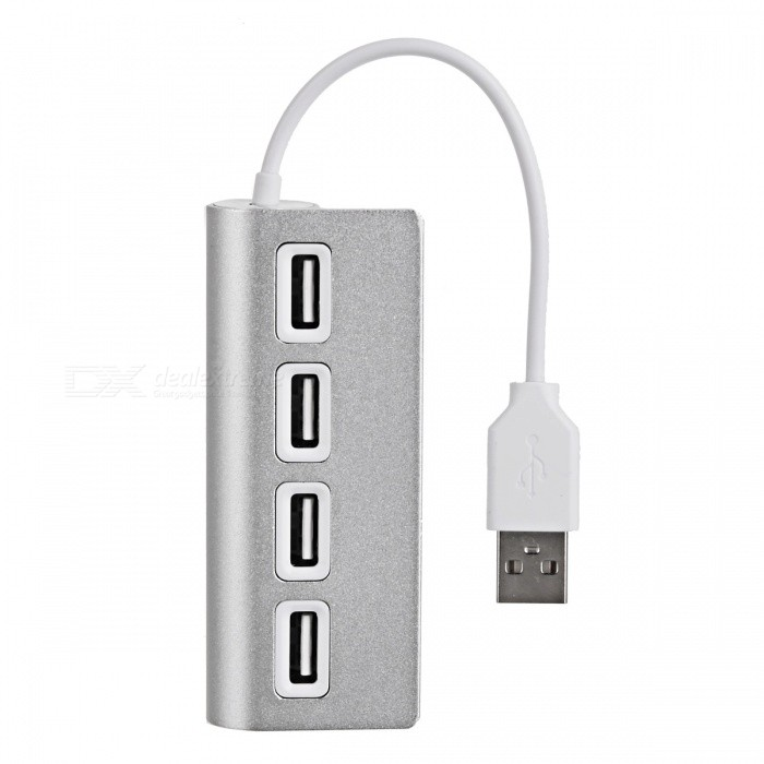 480Mbps USB Type-C to 4-Port USB 2.0 Hub - Silvery White + White