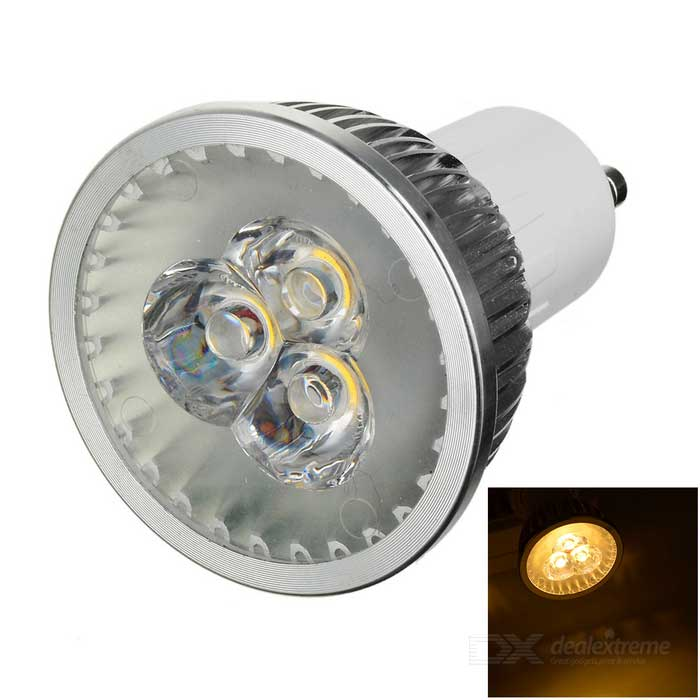 MLSLED GU10 3W Warm White Light LED Spotlight - Silver (AC 85~265V)GU10<br>Form  ColorSilverColor BINWarm WhiteMaterialAL + PCQuantity1 DX.PCM.Model.AttributeModel.UnitPower3WRated VoltageAC 85-265 DX.PCM.Model.AttributeModel.UnitConnector TypeGU10Theoretical Lumens200~240 DX.PCM.Model.AttributeModel.UnitActual Lumens180~220 DX.PCM.Model.AttributeModel.UnitChip Type1023Emitter TypeLEDTotal Emitters3Color Temperature12000K,Others,3500KDimmableNoWavelengthNoBeam Angle180 DX.PCM.Model.AttributeModel.UnitPacking List1 x Spotlight<br>