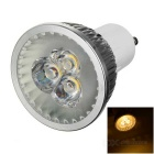 MLSLED GU10 3W White Light LED Spotlight - Silver (AC 85~265V)
