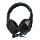 SENICC Headband Gaming Headphone - Black + Blue