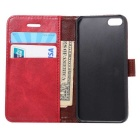 Wallet Case w/ Stand / Card Slots for IPHONE SE / 5S / 5 - Red