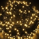 Solar Powered Decorative Twinkle LED Light String Warm White - Black
