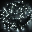 Solar Powered Decorative Twinkle LED Light String White - Black