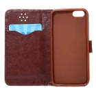 Protective PU + TPU Full Body Case for IPHONE SE / 5 / 5S - Brown