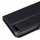Wallet Case w/ Stand / Card Slots for IPHONE SE / 5S / 5 - Black